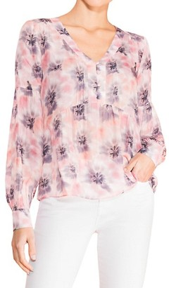 Parker Camilia Silk-Blend Muted Print Blouse