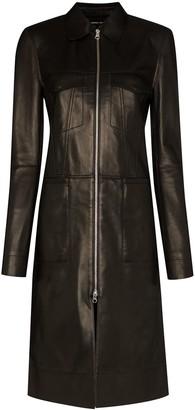 Kwaidan Editions Zip-up mid-length coat