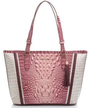 Brahmin Medium Asher Monte Carlo Embossed Leather Tote