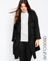 Asos Trench With Waterfall Front
