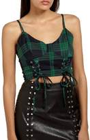 Missguided Plaid Bustier Top