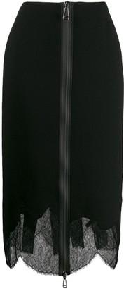 Fendi Layered Zip Pencil Skirt
