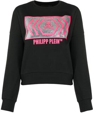 Philipp Plein Rhinestone-Embellished Logo Sweater