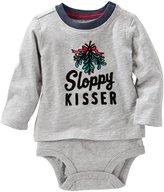 Osh Kosh Sloppy Kisser Bodysuit - Heather - 6M - 6 Months