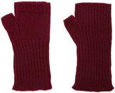 Undercover ribbed fingerless gloves