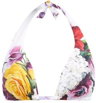 Dolce & Gabbana Floral-print Halterneck Bikini Top - Multi