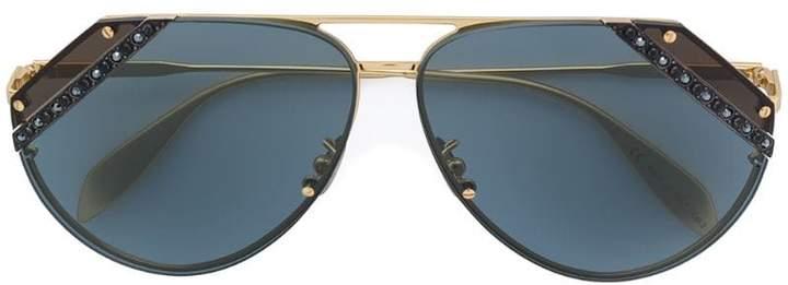 1441c9aedba4 Alexander Mcqueen Aviator Sunglasses - ShopStyle