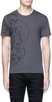 Alexander McQueen Skull sketch print organic cotton T-shirt