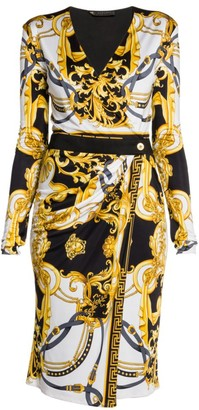 Versace Rodeo Queen Wrapped Jersey Dress