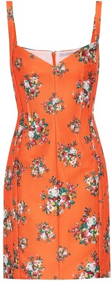 Emilia Wickstead Fyfe floral double-cloque minidress