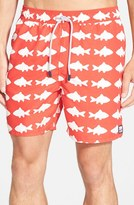 Men's Tom & Teddy 'Fish Pattern' Swim Trunks