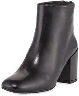 Stuart Weitzman Bacari Leather Chunky-Heel Bootie, Black