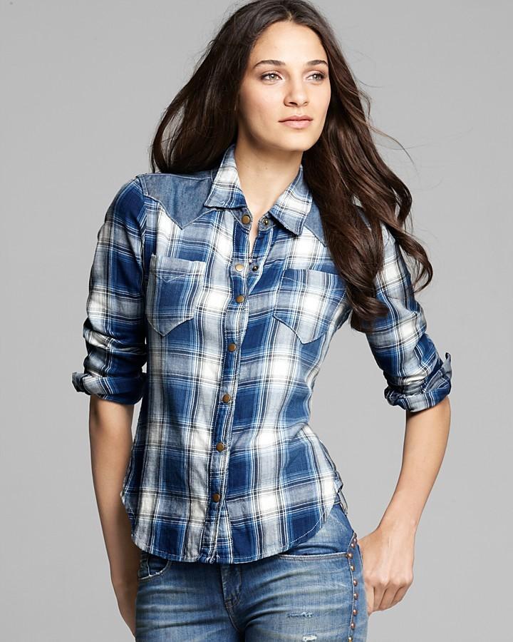 Blank NYC BLANKNYC Shirt - Plaid Button Down
