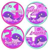 GIRL BABY WHALES PURPLE PINK GREEN Baby Month Onesie Stickers Baby Shower Gift Photo Shower Stickers, baby shower gift by OnesieStickers