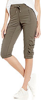 Calvin Klein Shadow Stripe Microfiber Banded Bottom Capri Pants