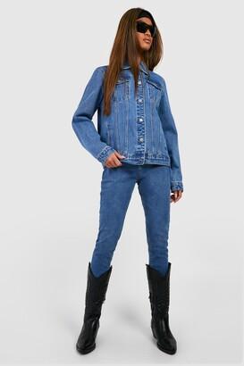 boohoo Butt Shaper Mid Rise Skinny Jeans