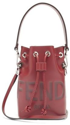 Fendi Mon Tresor Mini Leather Bucket Bag - Burgundy