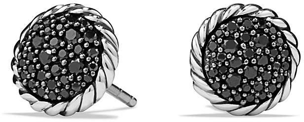 David Yurman Ch'telaine Pavé Earring with Black Diamonds
