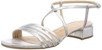 Unisa Women's Dixie_LMT Ankle Strap Sandals, Silver