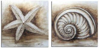 Safavieh 2-Piece Shell Paintings