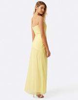 Little Mistress Lemon Knot Waist Maxi Dress