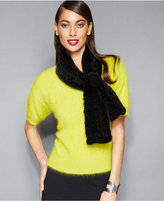 The Fur Vault Knitted Mink Fur Scarf