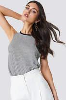 MANGO Striped Linen-Blend T-Shirt