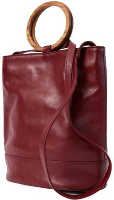 Payton James Wood Italian Leather Tote & Crossbody In Cabernet
