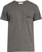 MAISON KITSUNÉ Army crew-neck cotton-jersey T-shirt