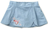 Copper Key Little Girls 4-6X Chambray Floral-Embroidered Skort