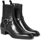 Saint Laurent - Leather Harness Boots