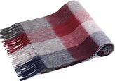 "Simplicity Unisex Luxurious 63.5"" x 11.5"" Cashmere Scarf w/ Gift Box, Red Black Grey"