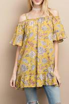 Easel Happy Floral Tunic