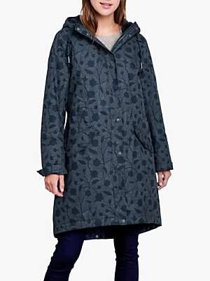 Hunter Seasalt RAIN® Collection Plant Floral Print Raincoat, Fathom