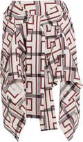 Vivienne Westwood Hope asymmetric printed cotton-blend mini skirt