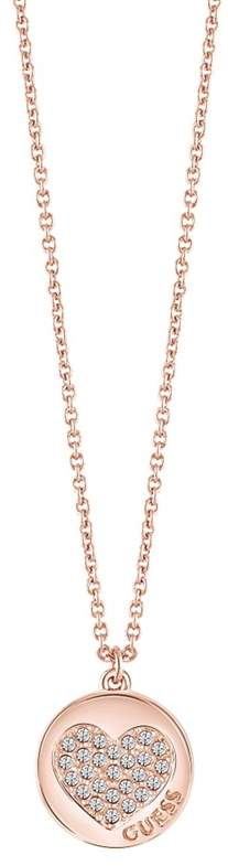 Guess - Rose Gold Plated Heart Necklace Ubn82052