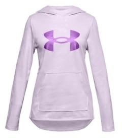 Under Armour Big Girls Fleece Big Logo Texture Hoodie