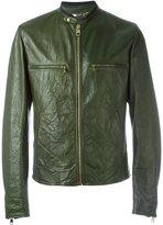 Dolce & Gabbana creased leather jacket