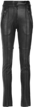 Gloria Coelho Leather Skinny Pants