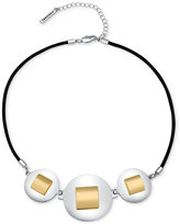 T Tahari Silver-Tone Collar Necklace
