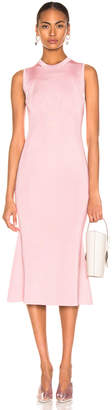 Victoria Beckham Tromp L'oeil Flared Dress in Light Pink   FWRD