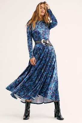 Free People Heartland Crushed Velvet Maxi Dress