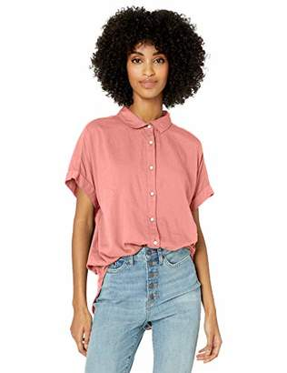 Goodthreads Lightweight Poplin Short-sleeve Button-front ShirtXL
