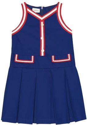Gucci Kids Pleated stretch-cotton dress