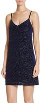 Aqua Velvet Slip Dress