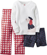 Carter's 3-pc. Long-Sleeve Pajama Set - Baby Girls 12m-24m