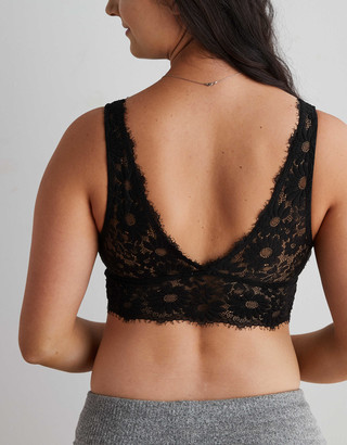 aerie Happy Lace Padded Plunge Bralette