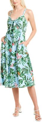 Taylor Tie-Front Midi Dress