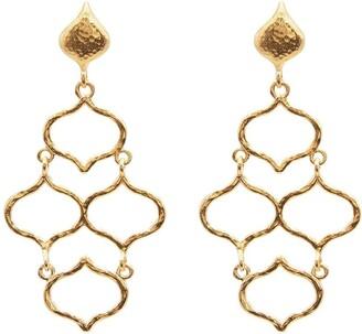 Gurhan 24kt yellow gold small Trellis Chandelier earrings