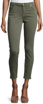 7 For All Mankind The Ankle Skinny Coated Jeans, Gray